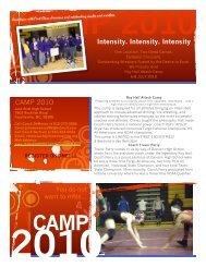 Intensity. Intensity. Intensity CAMP 2010 - Team Rhino LLC
