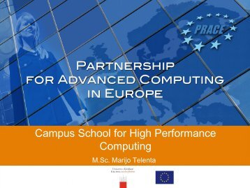Campus School for High Performance Computing - Prace Training ...