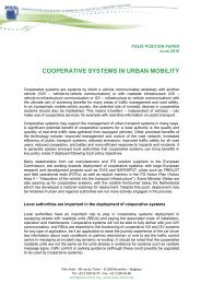 Position Paper on Cooperative Systems in Urban Mobility