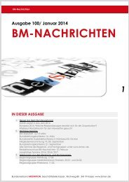 BM-Nachrichten Nr. 100 - Bundesverband Mediation eV