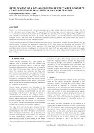 Development of a design procedure for timber concrete composite ...