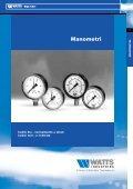 Manometri, Termomanometri e Termometri - Watts Industries - Page 7