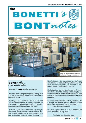 Bontnotes 2002-01- International edition - Cesare Bonetti Spa