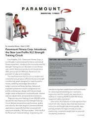Paramount Fitness Corp. Introduces the New Low-Profile XL2 ...