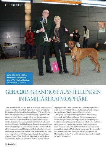 Gera 2013: GRANDIOSE AUSSTELLUNGEN IN FAMILIäRER ...