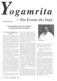 Artikel in Wassermann (Wendezeit) 1/99 - Teil 6 - Kriya Yoga