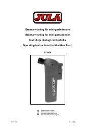 Bruksanvisning för mini-gasbrännare Bruksanvisning for mini ... - Jula