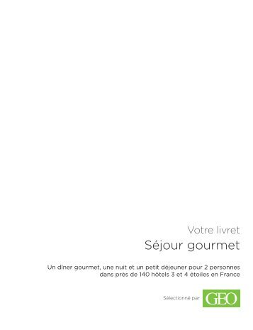 Séjour gourmet - E-Merchant