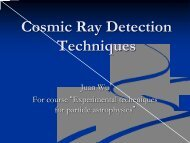 Cosmic Ray Detection Techniques - KTH Particle and Astroparticle ...