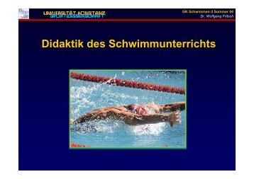 Didaktik des Schwimmunterrichts - Universität Konstanz