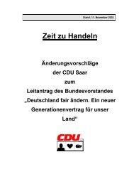 Zeit zu Handeln - CDU Saar
