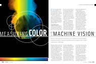 Measuring Color with Machine Vision