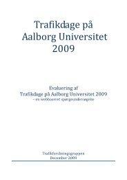 Evalueringsrapport 2009 - Trafikdage.dk