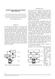 INTEGRATION OF VISION IN AUTONOMOUS MOBILE ROBOTICS ...
