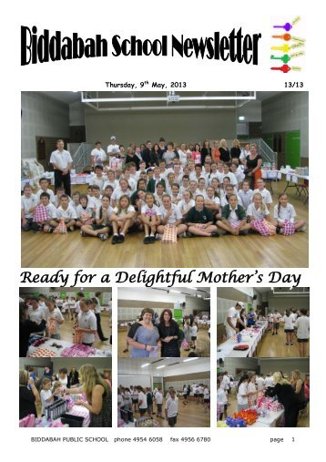 Ready for a Delightful Mother's Day - Biddabah Public School