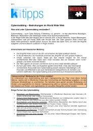 Cybermobbing - Konsumentenforum kf