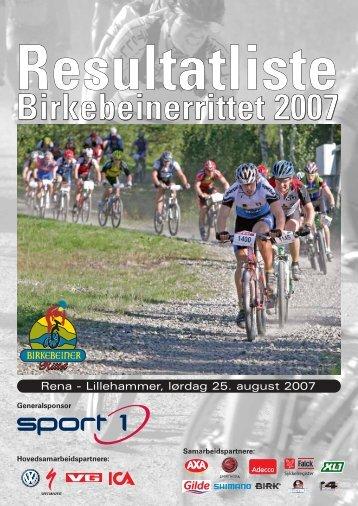 Birkebeinerrittet 2007 - Resultatservice