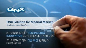 RIM presentation - QNX Software Systems
