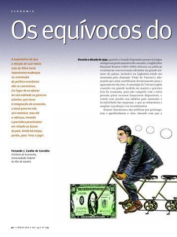Os Equívocos do Governo Lula - Instituto de Economia da UFRJ