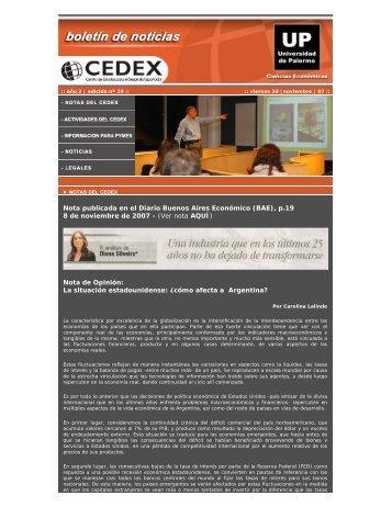 Nota publicada en el Diario Buenos Aires Económico (BAE), p.19 8 ...