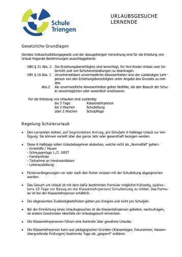 Urlaubsregelung Lernende.pdf - Schule Triengen