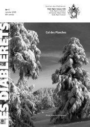 Janvier 2009 - Club Alpin Suisse - Section des Diablerets