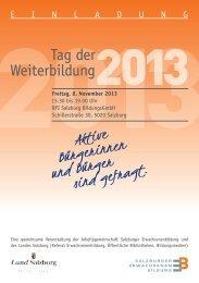 Tag der Weiterbildung - Salzburger Erwachsenenbildung