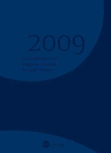 Geschäftsbericht Rapport Annuel Annual Report