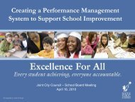 Performance Management Presentation for Joint City Council-School