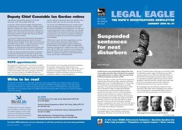 Legal Eagle 47 - RSPB