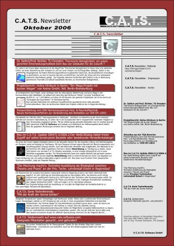 C.A.T.S. Newsletter Oktober 2006 - CATS Software GmbH