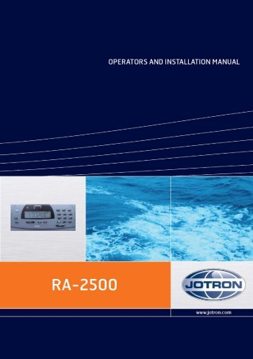 Operators and Installation Manual RA-2500 AIS Receiver.pdf - Jotron