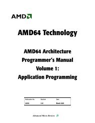 AMD64 Technology - Stanford Secure Computer Systems Group