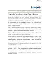 Subpoena to Testify at a Hearing or Trial in a Criminal Case