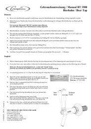 Gebrauchsanweisung / Manual BT 3500 Bierhahn ... - IMI Cornelius