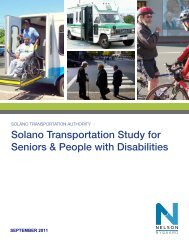 Solano Transportation Study for Seniors & People with Disabilities