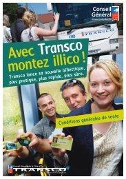 Consultez les conditions générales de vente Transco