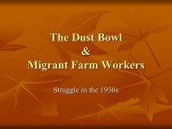 Dust Bowl Timeline