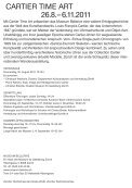 CArTiEr TiME ArT MUSEUM BELLEriVE 26.8. – 6.11.2011 - eMuseum - Seite 2