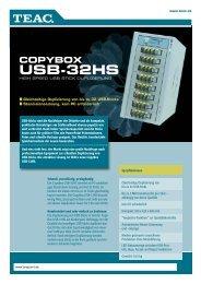 USB-32HS-datasheet:Layout 1 - One Point Storage Systems