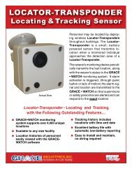 Locator-Transponder - Locating and Tracking with ... - Grace Industries