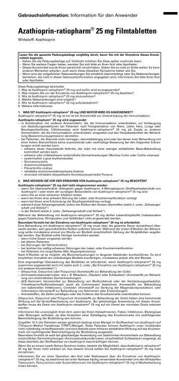 Beipackzettel - pharma-fuchs.de