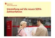 SEPA-Präsentation Vereine - Sparkasse Worms-Alzey-Ried