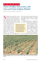 Starter Fertilizer Interactions with Corn and Grain Sorghum Hybrids ...