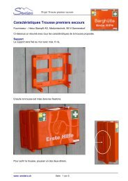 Trousse de premier secours - Sentiero.ch