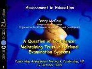 Professor Barry McGaw - Cambridge Assessment