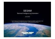 Business Intelligence og Automation - Sesam Danmark