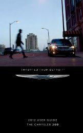 2012 Chrysler 200 Sedan User Guide - RAM Trucks