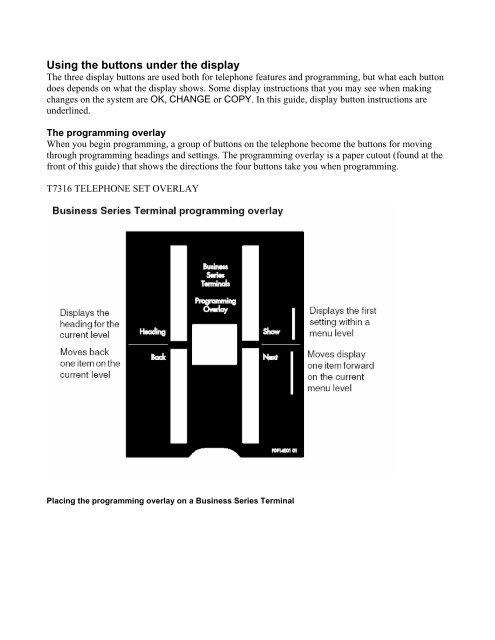 Nortel Telephone Overlay for Tseries - Digitcom
