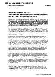 Medienkonvergenz SRG SSR: Publizistisches und betriebliches ...